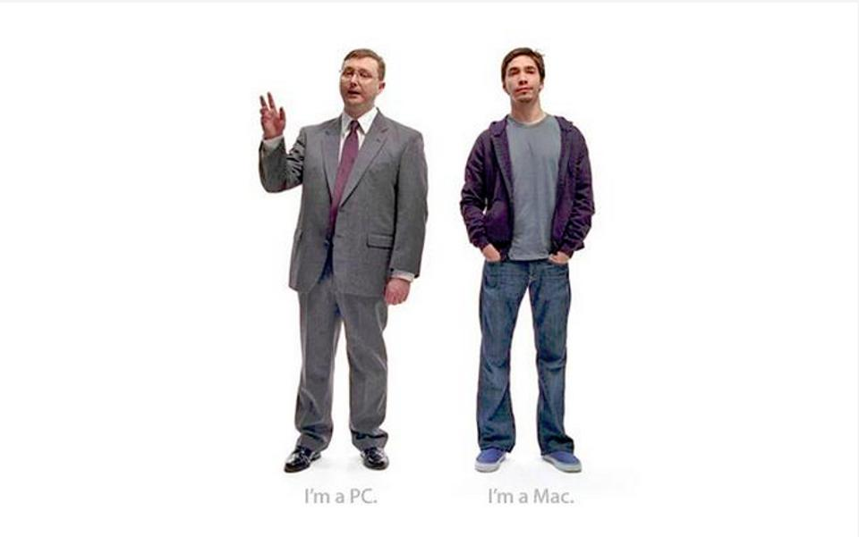 Apple's Mac vs PC campaign is simplistic but effective.