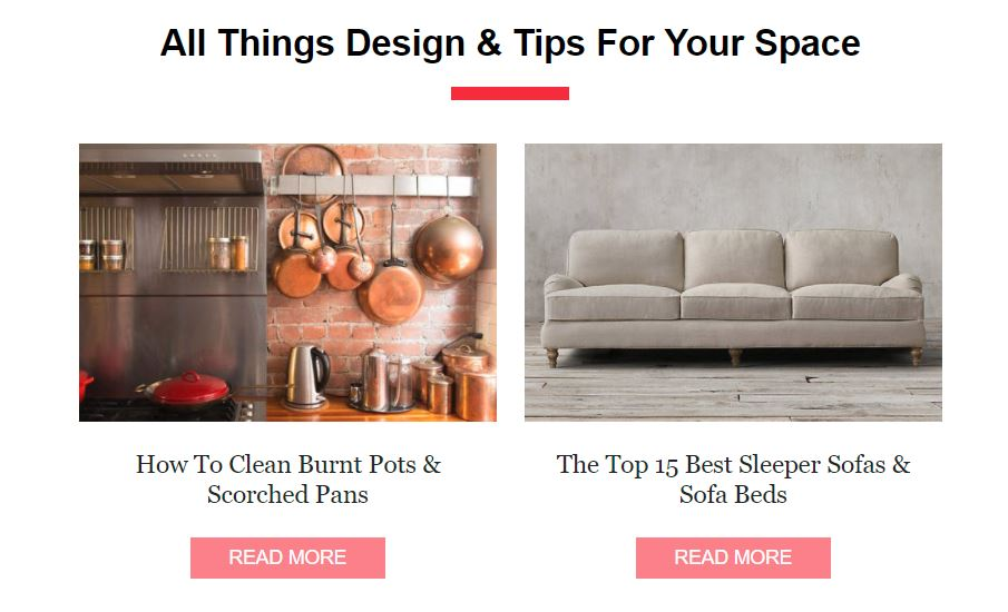 Apartment Therapy sends me blogs with content and affiliate advertising related to interior design - they include design tips, curated lists, and more.