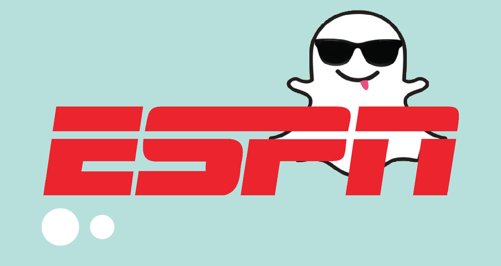 ESPN has a snapchat to update and engage followers.