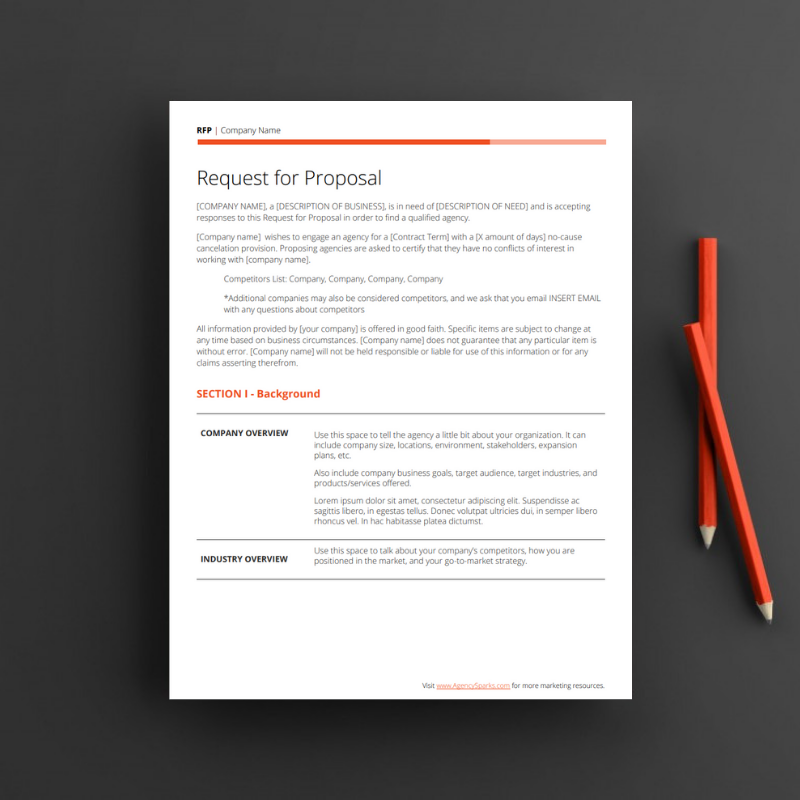 RFP Template - Free, editable request for proposal template