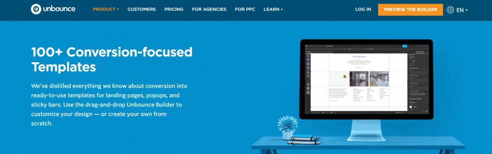 Unbounce is a lead generation and on-site retargeting tool to help marketers grow their email lists and consumer base.