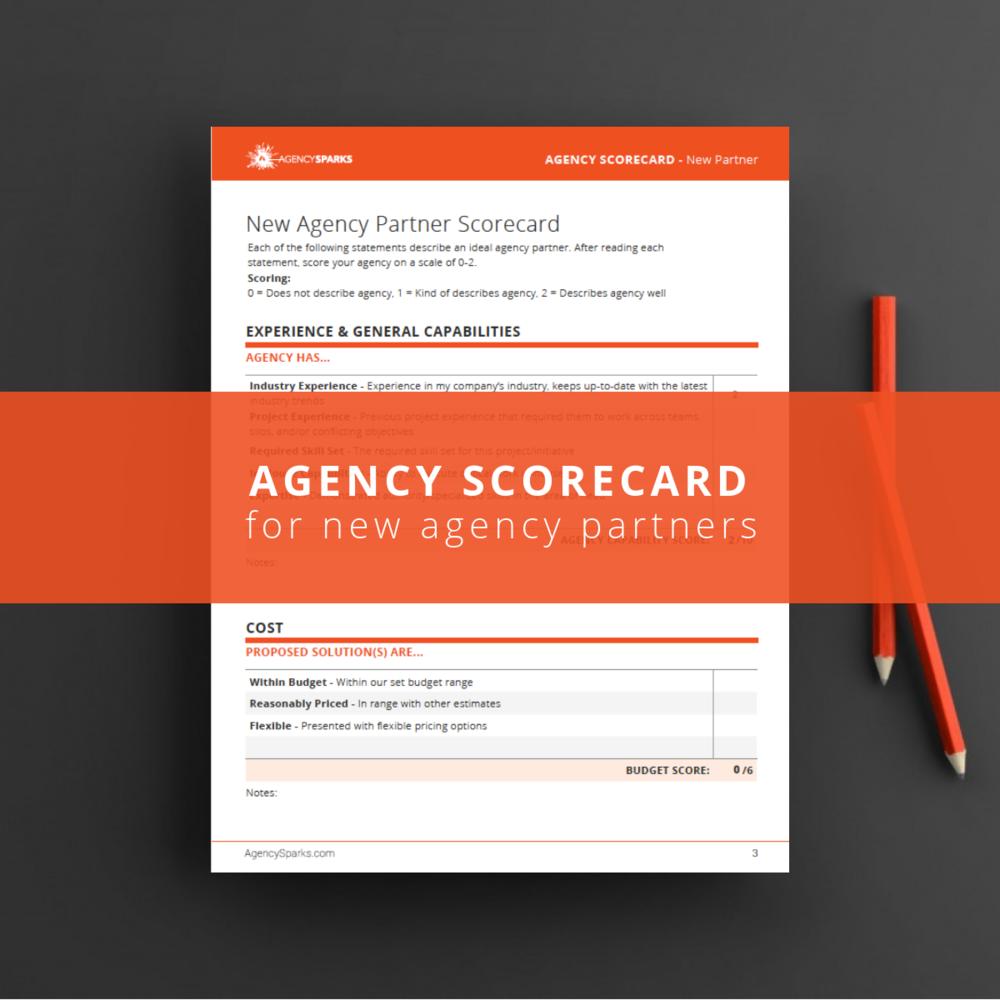 agency scorecard for existing agencypartners