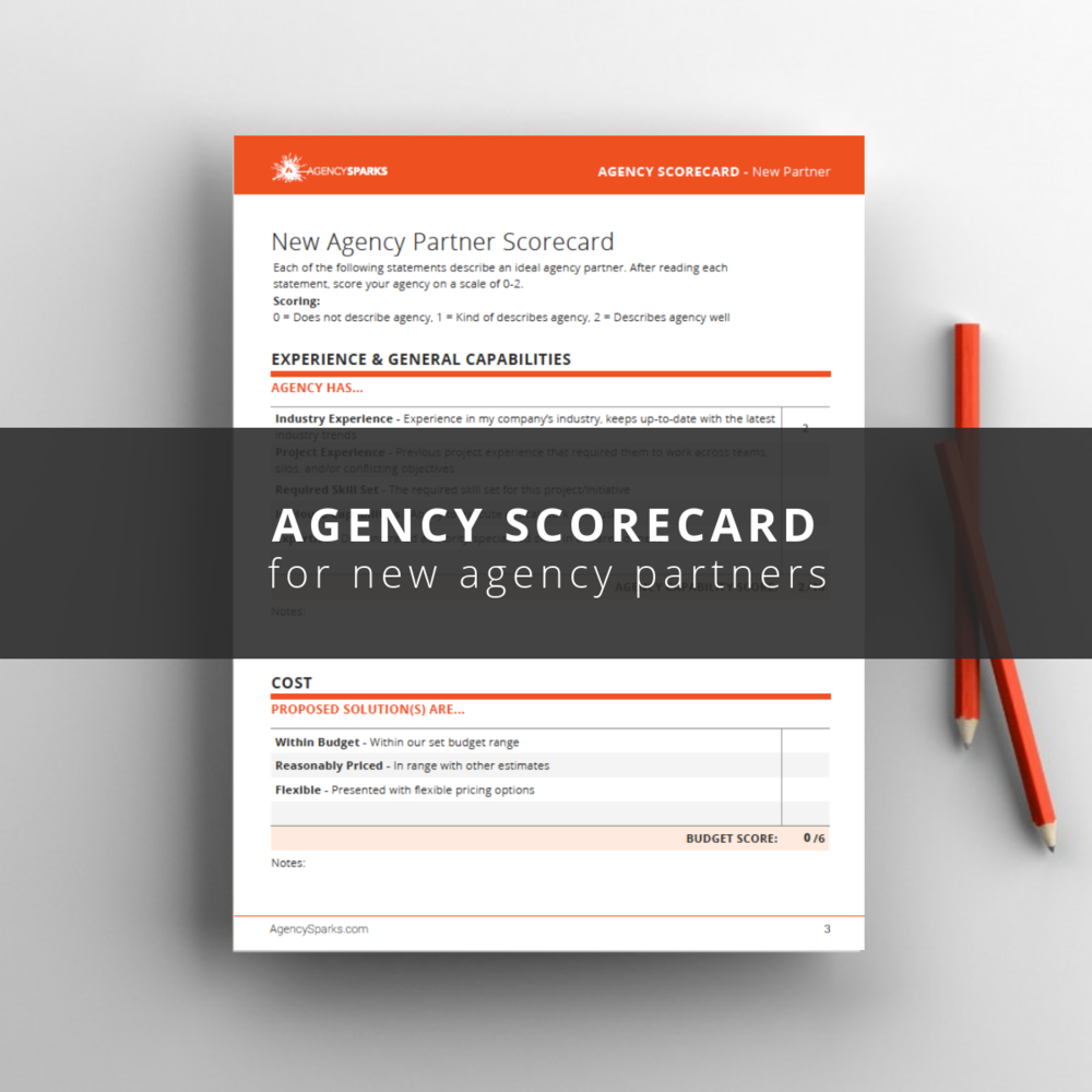 Free pitch evaluation template for advertising agency's pitch