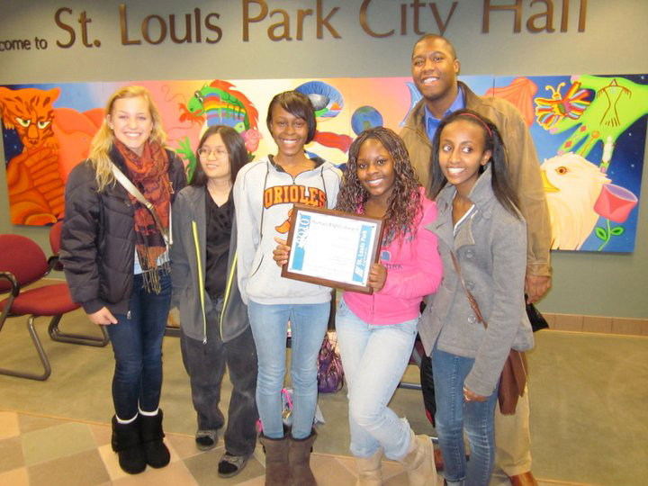 City of St. Louis Park honors Youth in Action Program that singled out and tackled racism that was occurring in classrooms everyday, but was going unnoticed.