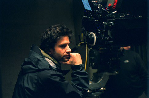 Miller behind the camera on the set of  Foxcatcher .