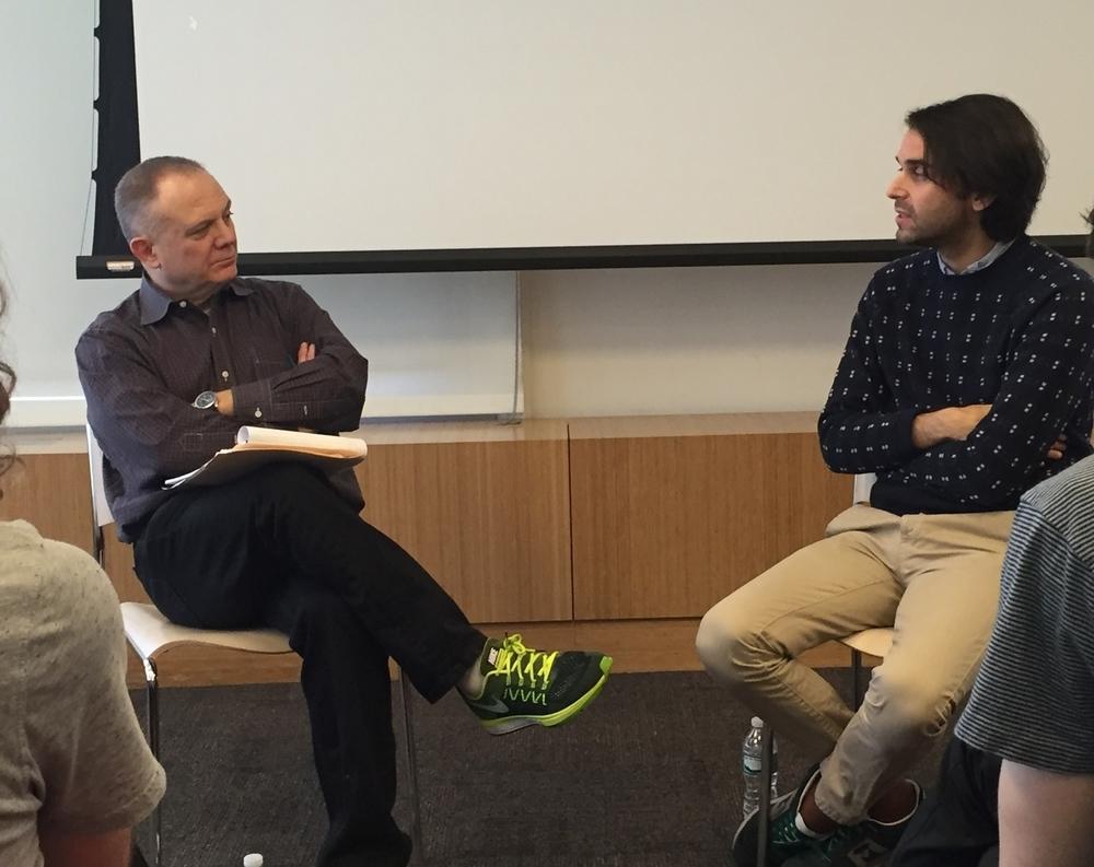 UGFTV Chair Joe Pichirallo (L) and Alex Ross Perry (R)