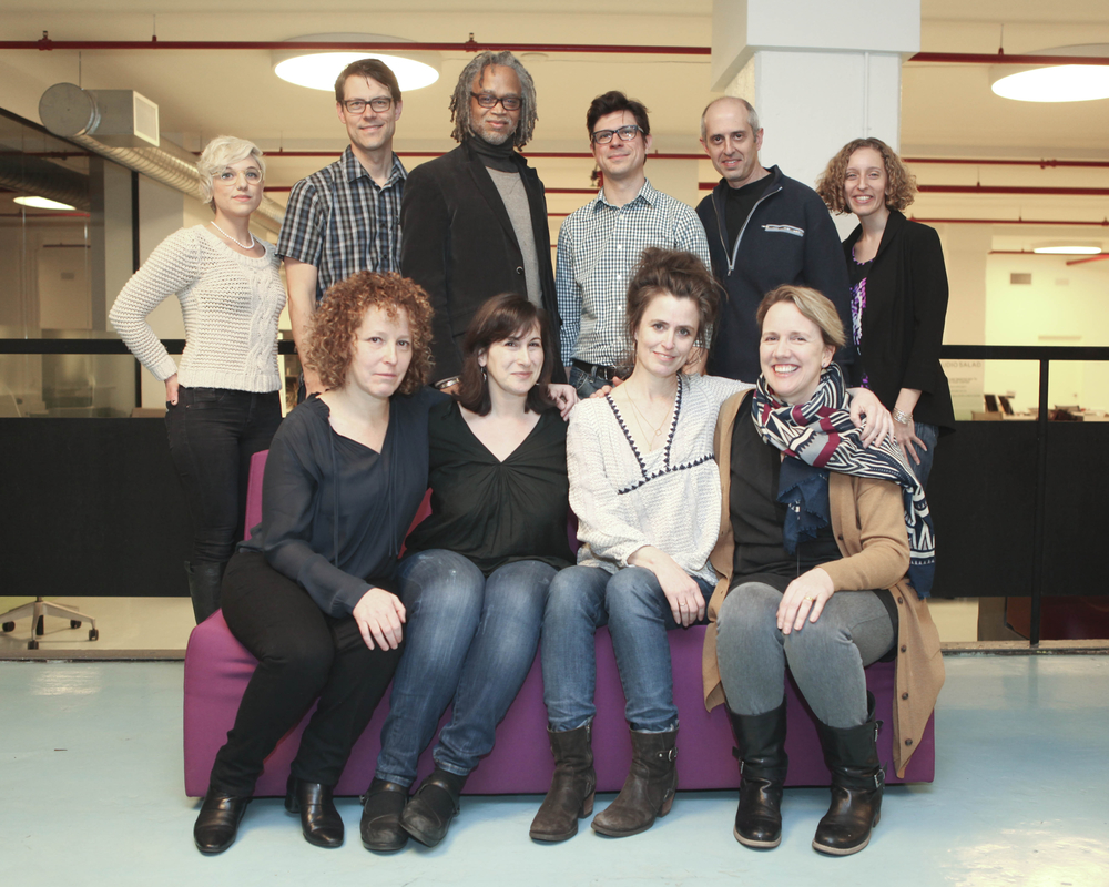 Back row: Eileen Meyer, Garret Savage (Sundance Institute), Lewis Erskine, David Teague, Richard Hankin, Kristin Feeley (Sundance Institute). Front row: Penny Falk, Robin Hesseman (Sundance Institute), Shannon Kennedy, Maeve O'Boyle