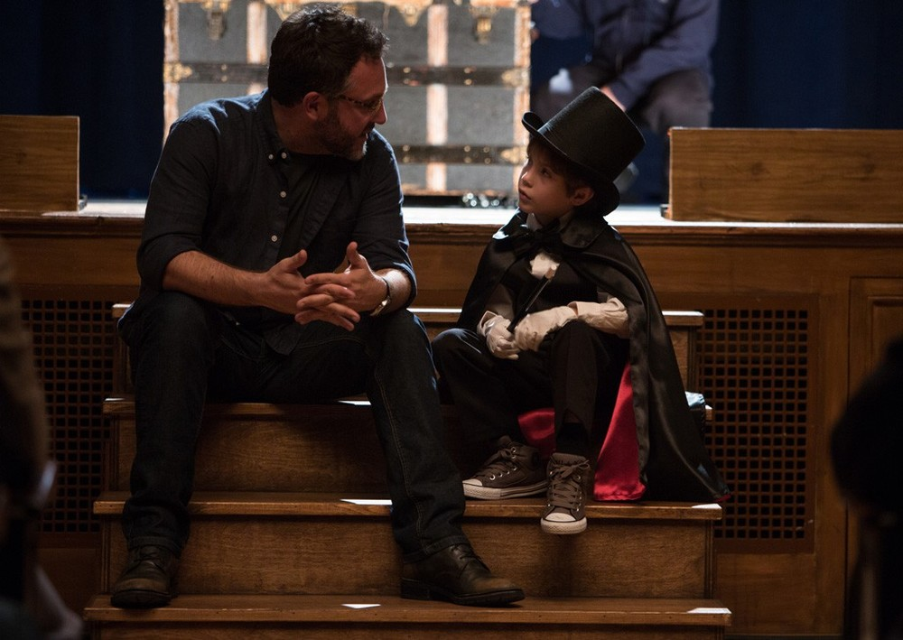 Colin Trevorrow with actor Jacob Tremblay. © Focus Features LLC.