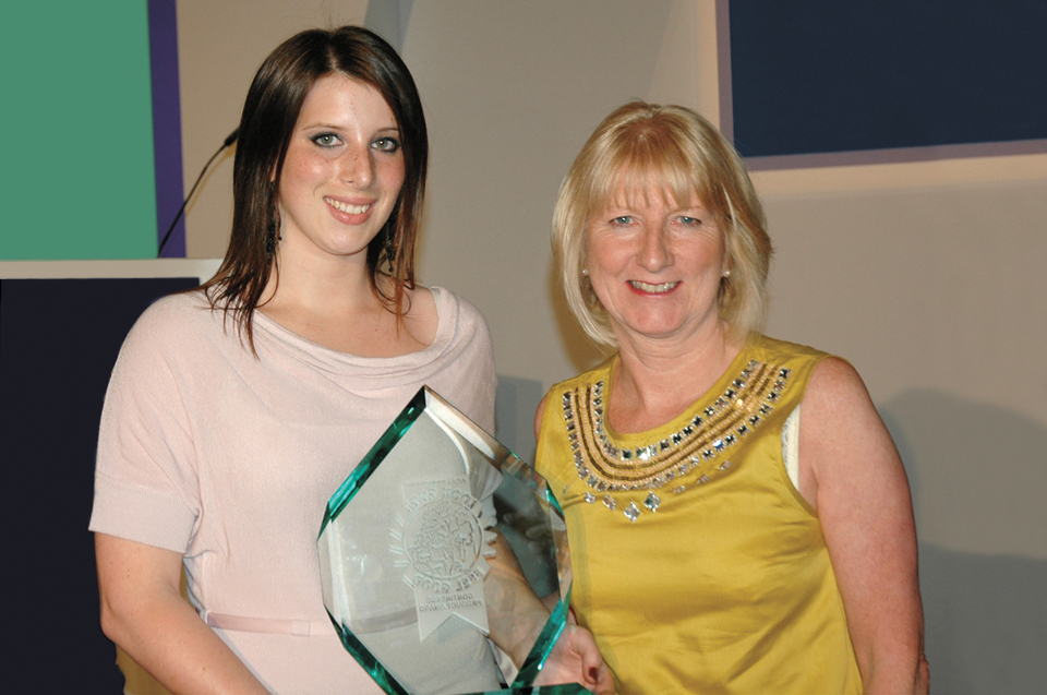 The 'Look Good, Feel Good' award presented by June Rodgers (MBE) – continence specialist.