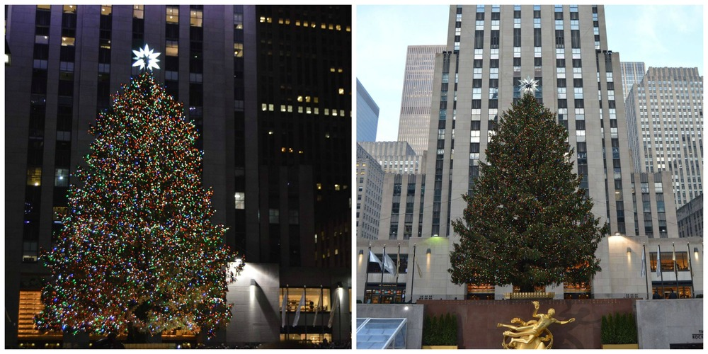The Rockerfeller Tree, one of the biggest Christmas trees in the world.
