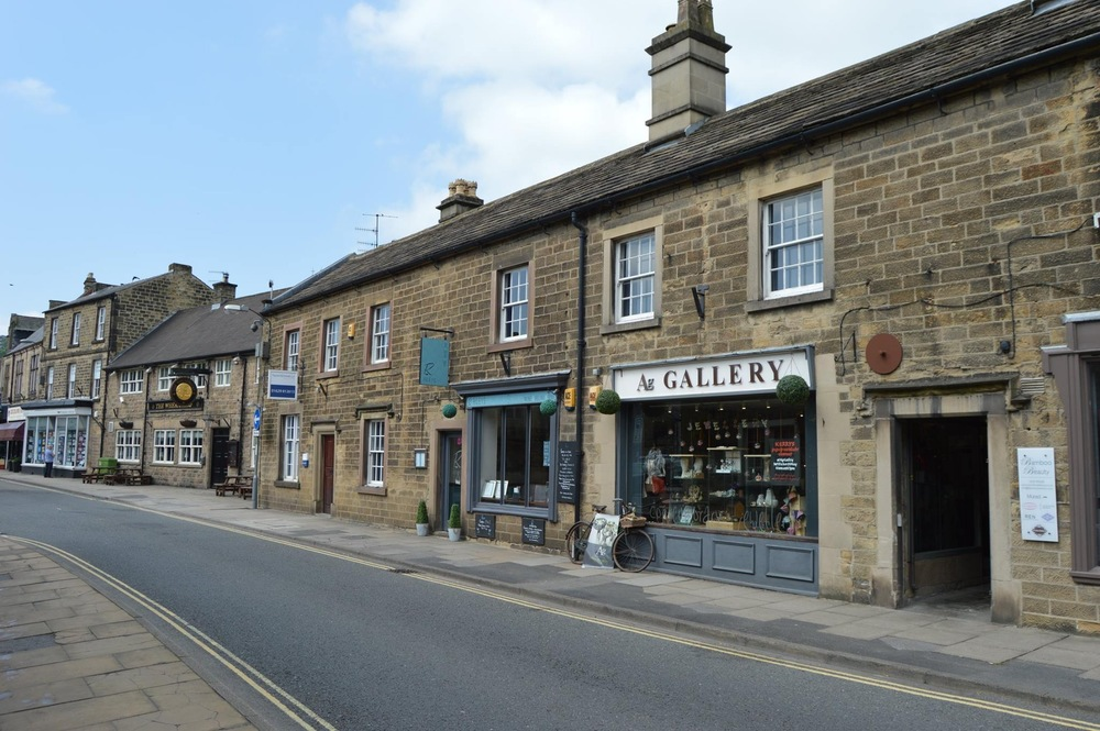 Beautiful old buildings and shops in Bakewell.