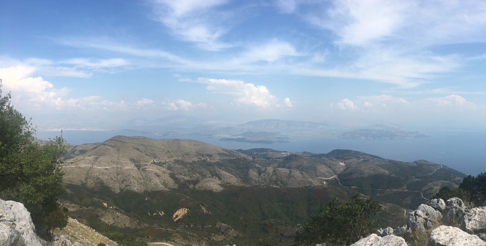 The top of Mount Pantokrator