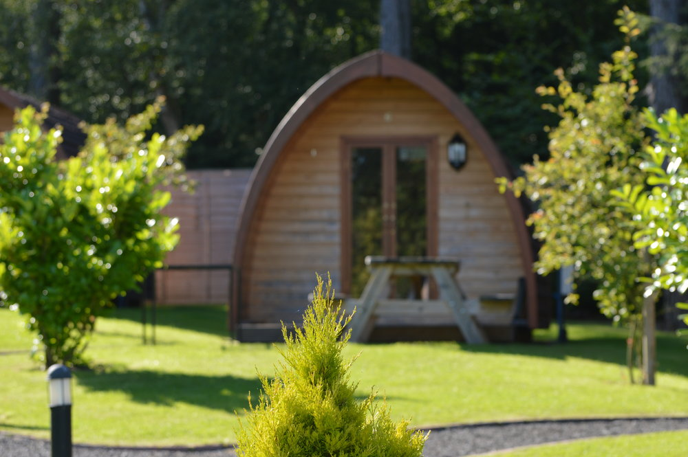 One of the Glamping pods