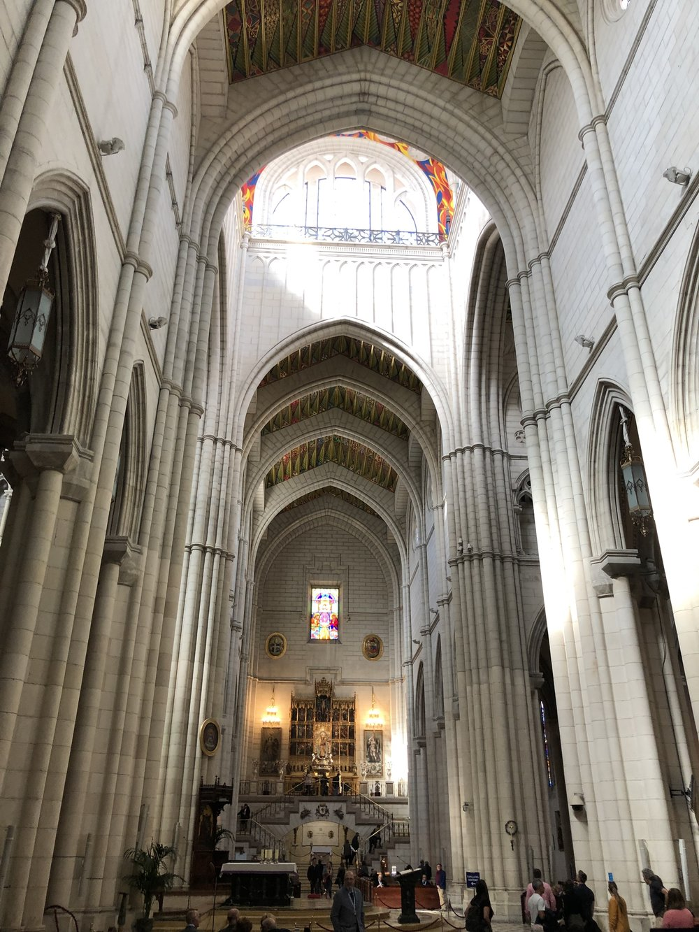 The cathedral in Madrid is a must for every visitor to the city.