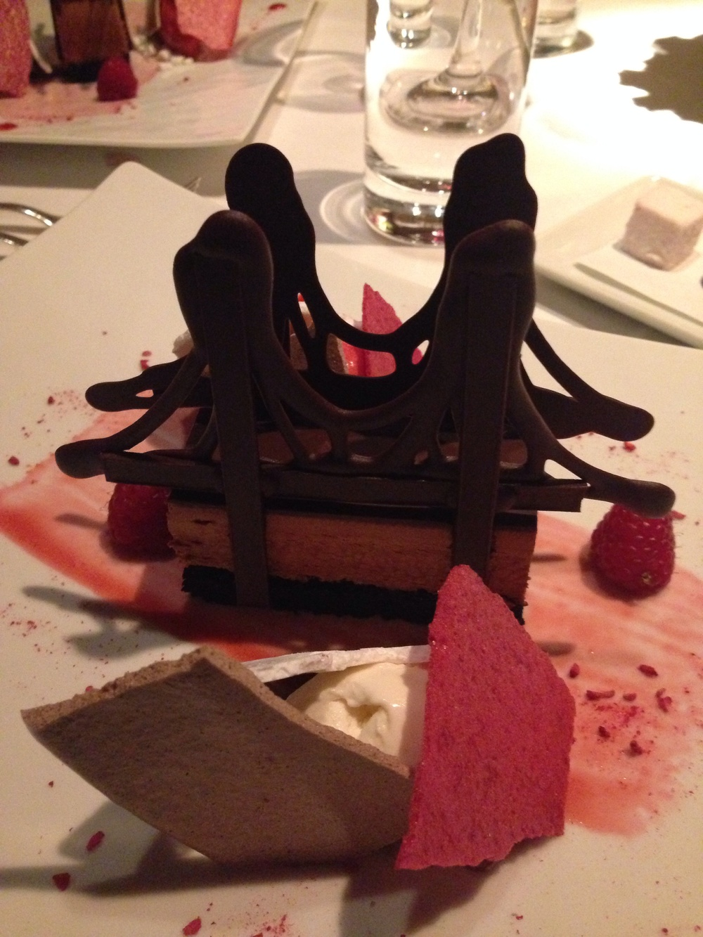 The Brooklyn Bridge dessert from The River Cafe.