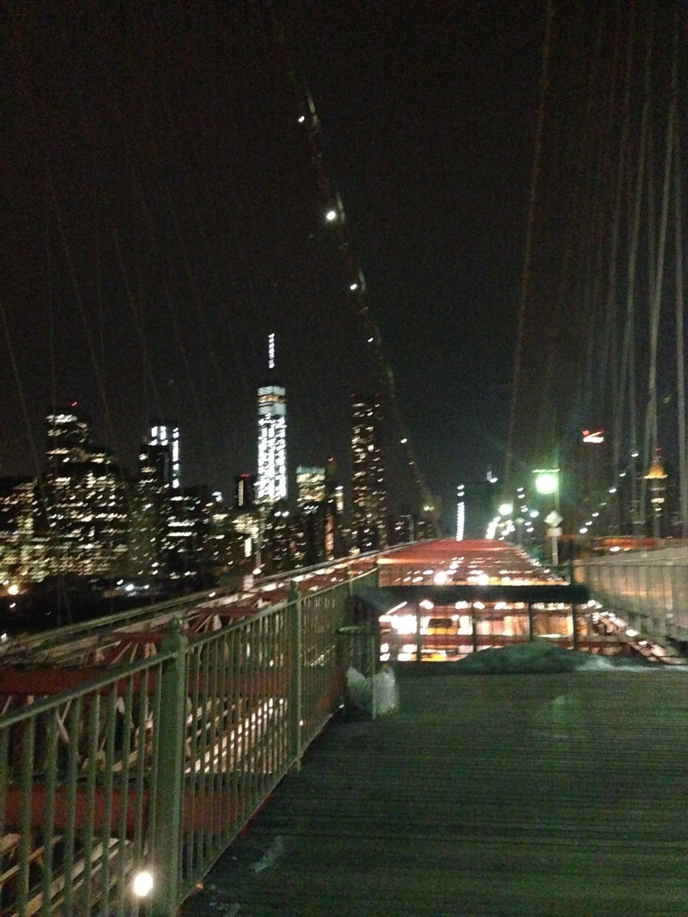 The view from Brooklyn Bridge.