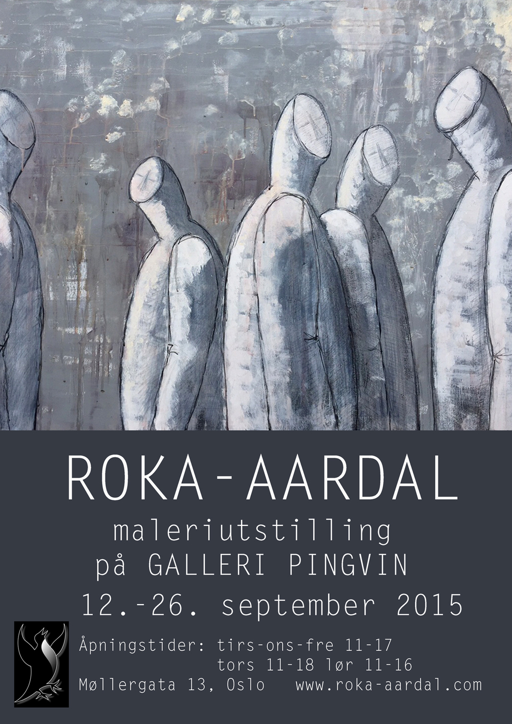 I am quite happy with my layout on the new poster & invitation for the exhibition at galleri Pingvin.