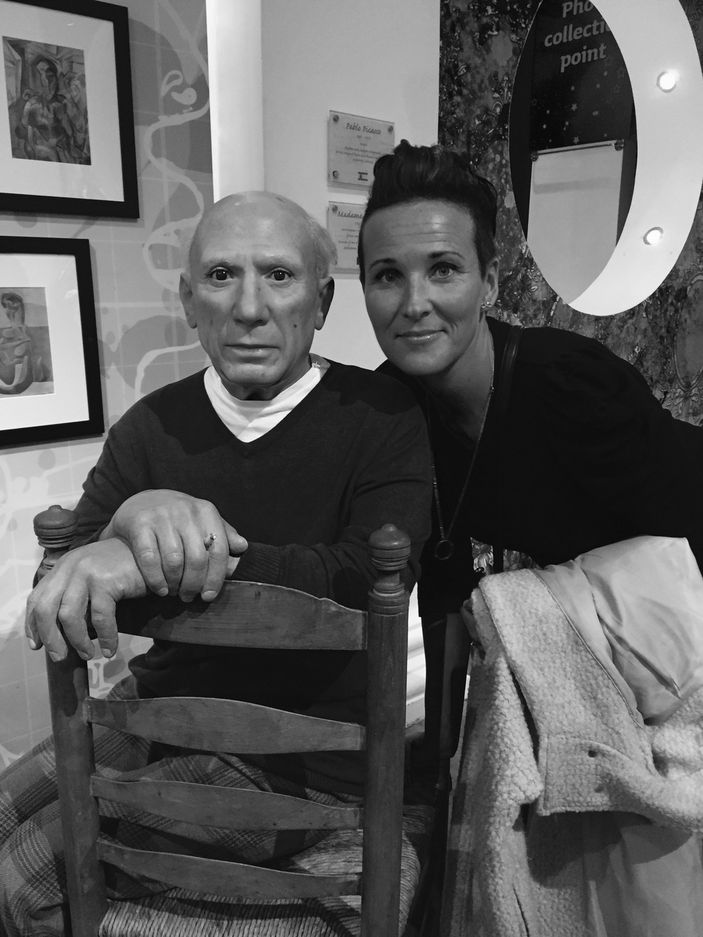 Picasso & me in London.