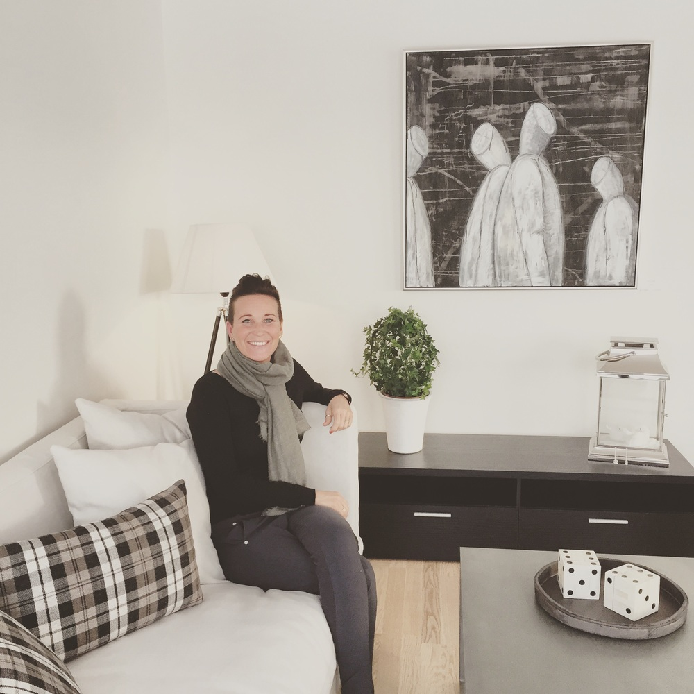 Me and my monks in the show house from Block Watne Houseconstructor in Røyken.