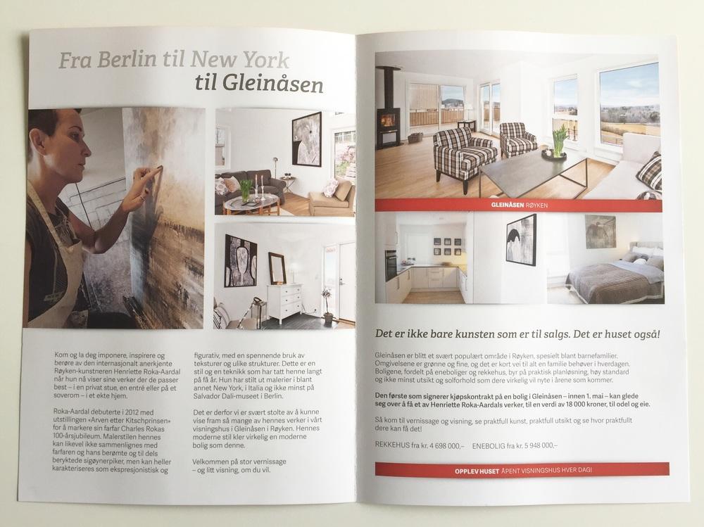 """Flyer from Block Watne: """"From Berlin to New York to Gleinaasen"""""""