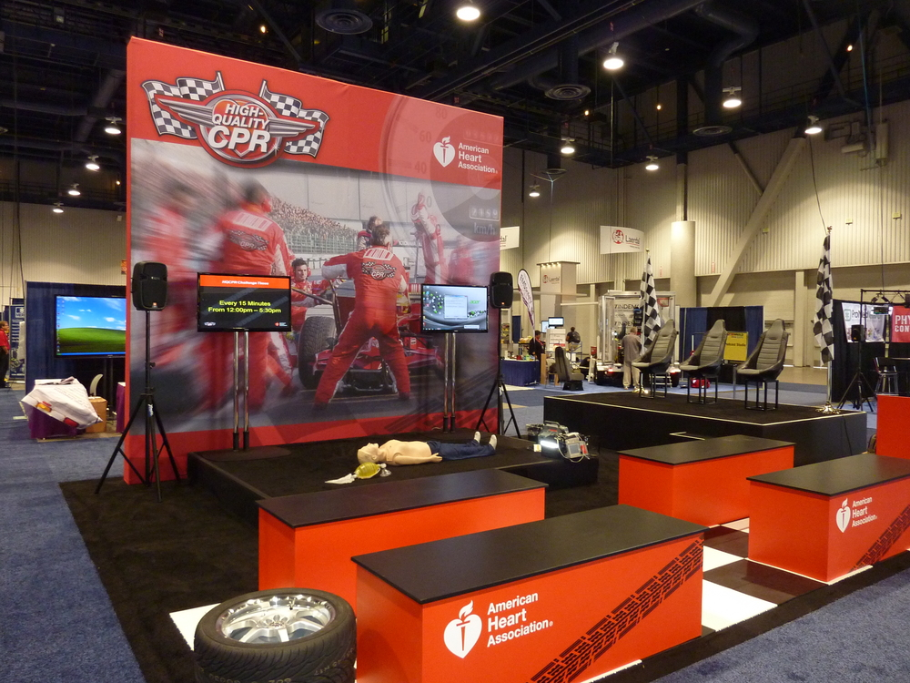 American Heart Association - CPR Throwdown Trade Show Booth