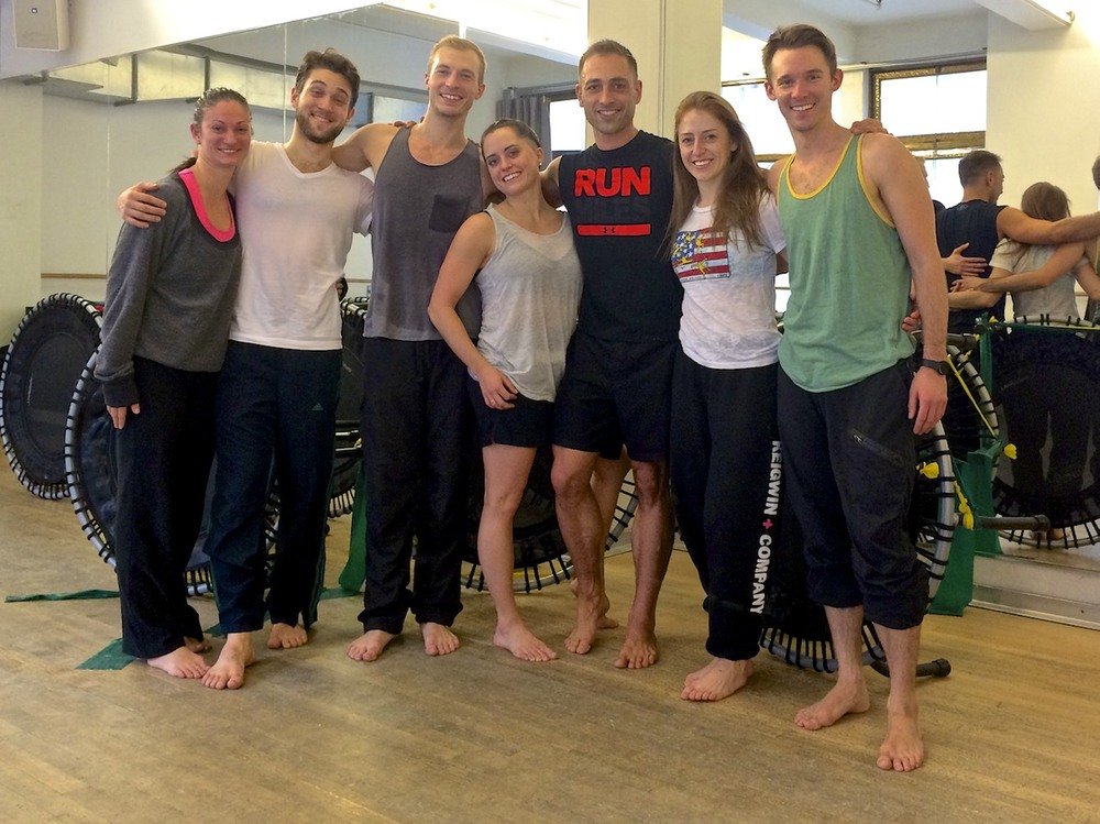 trampoLEAN Private Class with Larry Keigwin Dance Company. These dancers are true athletes!