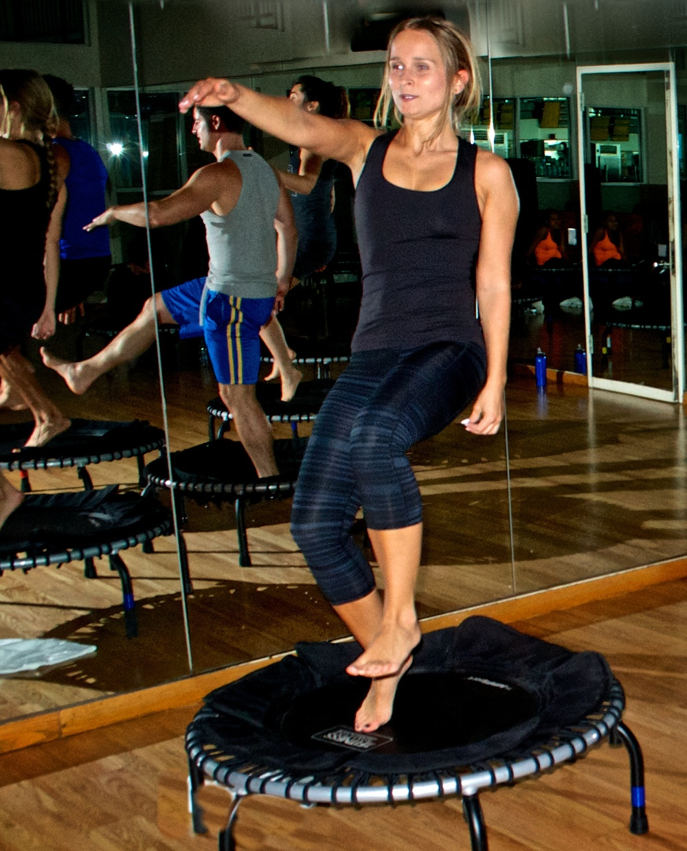 """I give 100% during this 50 min trampoline class. I leave feeling energized."" - Natalia"