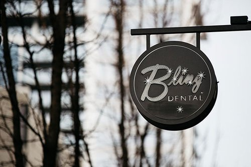 Photo of Bling Dental Sign - a top cosmetic dentist in Portland, OR