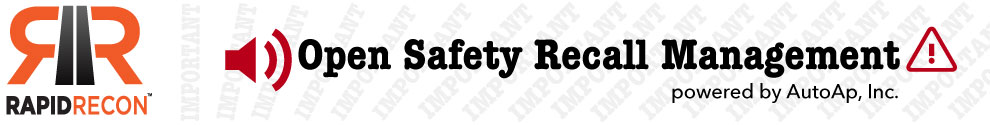 Open Safety Recall Management by Rapid Recon