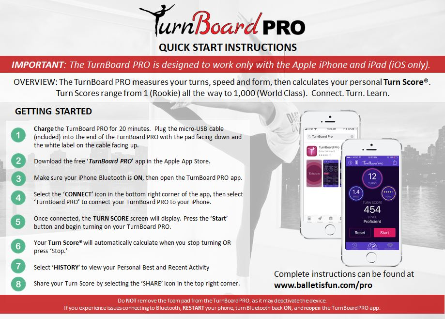 TurnBoard PRO Instructions