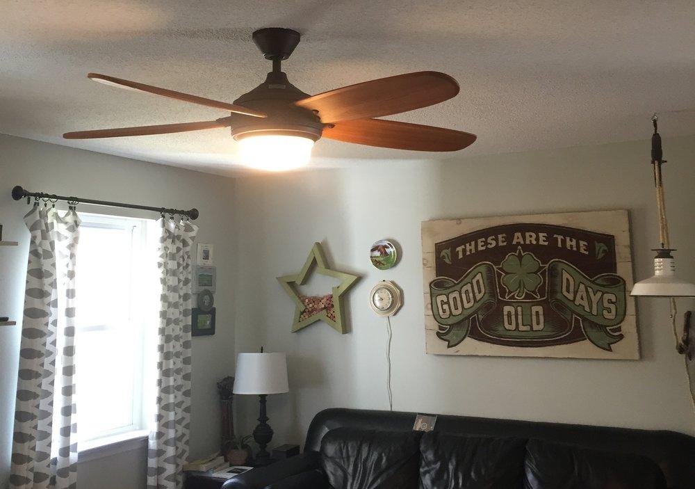 Installing an overhead light