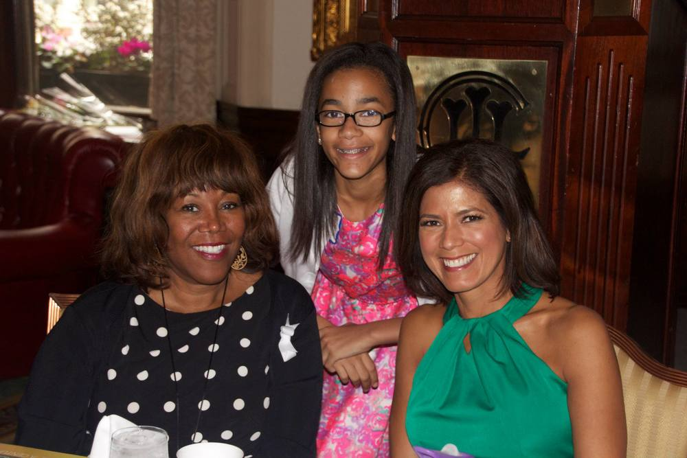 MEF Board Member & Event Emcee Zoraida Sambolin, her daughter and Ruby Bridges