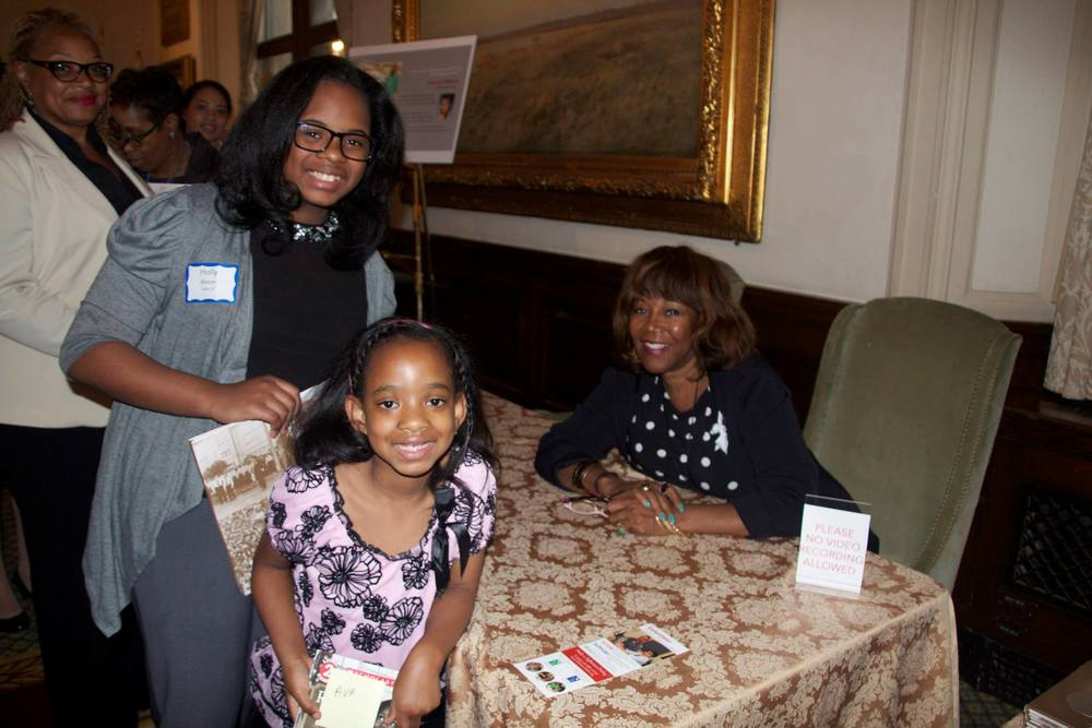 Ruby Bridges with Metro student Holly Alston & future Metro student Ava