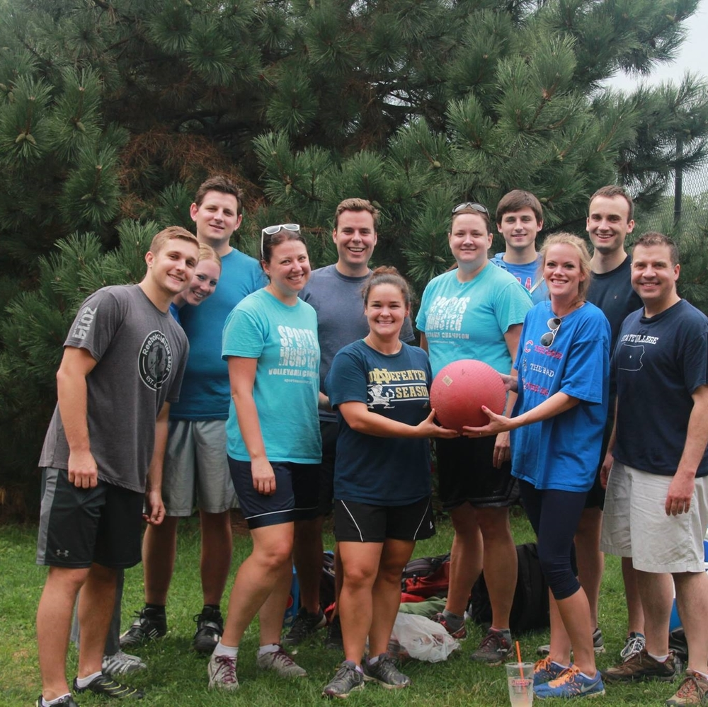 Jack, far left, at the 2015 Kickball Tournament.