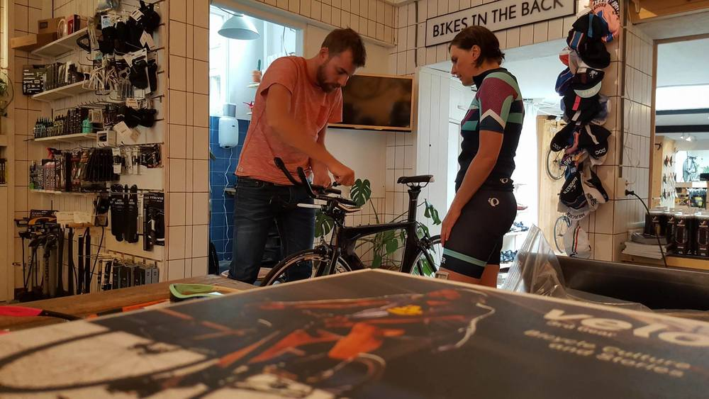Remco the best bike fitter in Amsterdam and I @ Meesterknecht