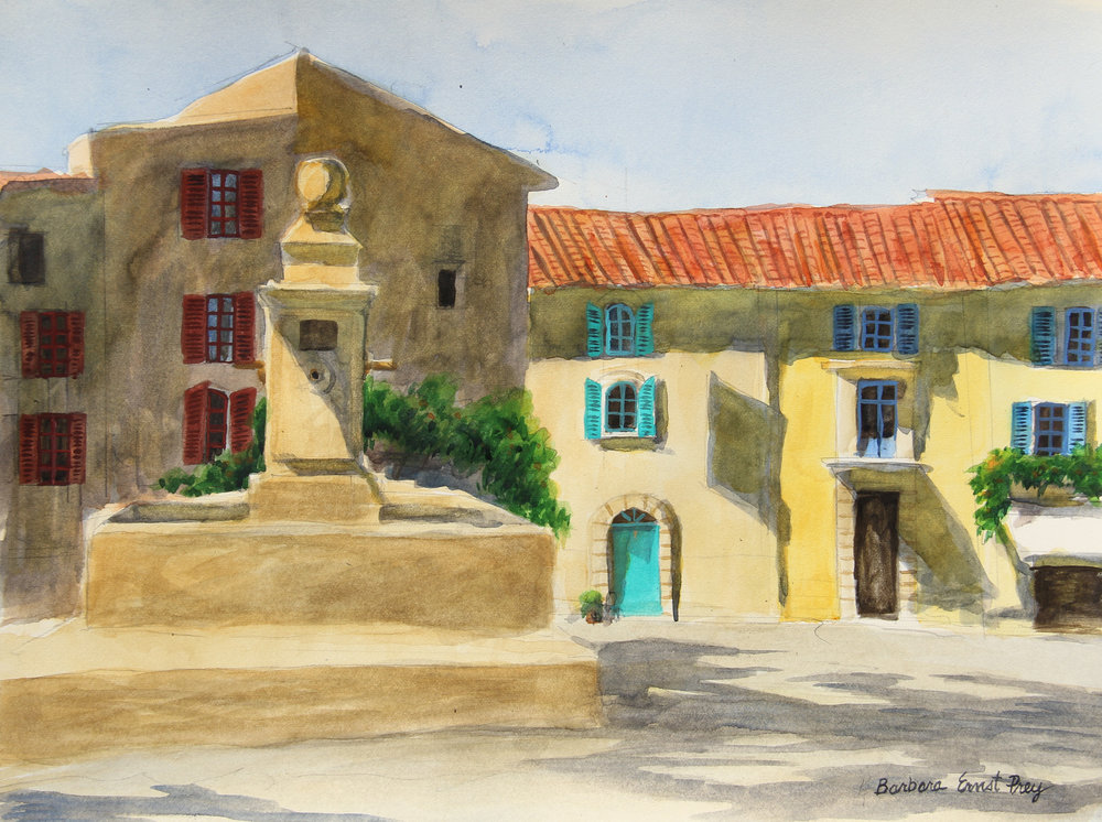 Gordes , 2015, Watercolor on paper, 11 x 14 inches