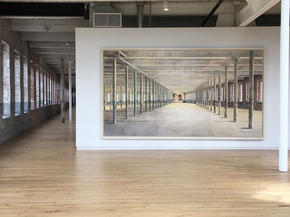 MASS MoCA Building 6, 8 x 15 feet, installed
