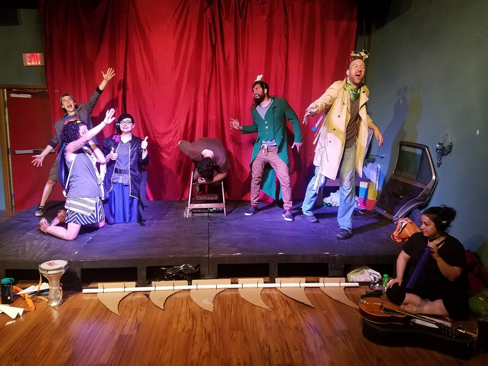 "Our ""junkyard production"" of James and the Giant Peach at the Glitterbox Theatre in Pittsburgh!"