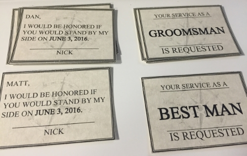 How to ask your bridal party groomsmen personal touch experience later each guy called and thanked nick and of course said yes he is pumped he topped me in our bridal party asking efforts junglespirit Image collections