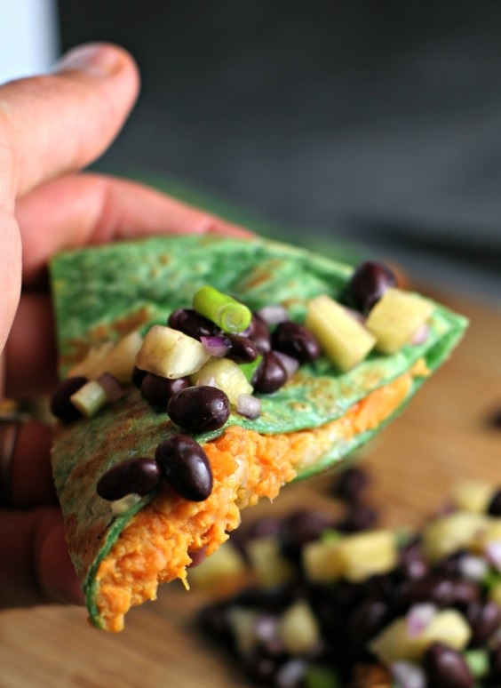 Sweet Potato Quesadilla by Beginwithinnutrition