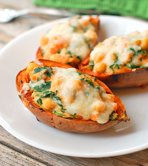 Healthy Sweet Potato Skins by Pinchofyum