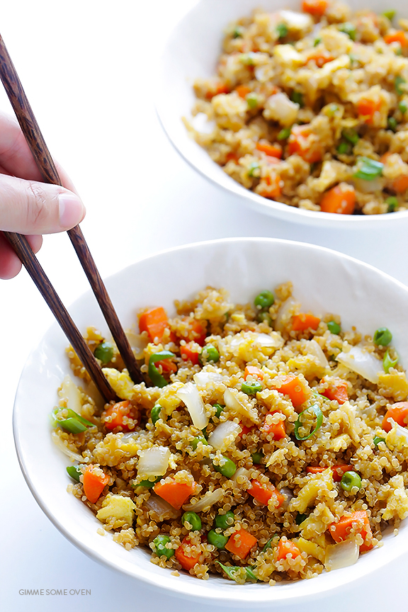 Quinoa Fried Rice by gimmesomeoven