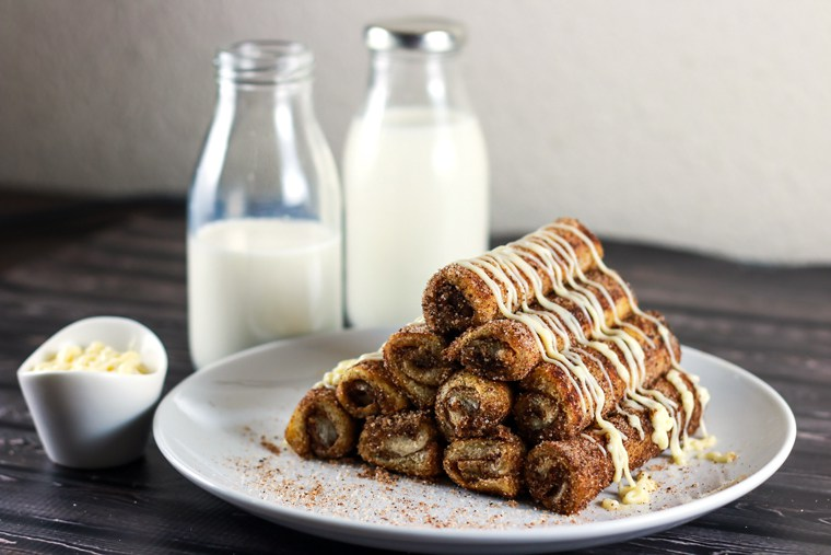 Cinnamon Roll French Toast Roll Ups by  Scrambledchefs