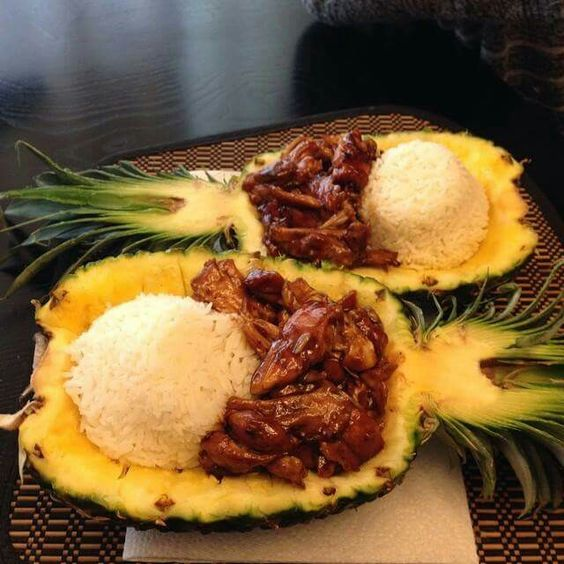 Chicken Teriyaki In A Pineapple Bowl by Thegraciouswife