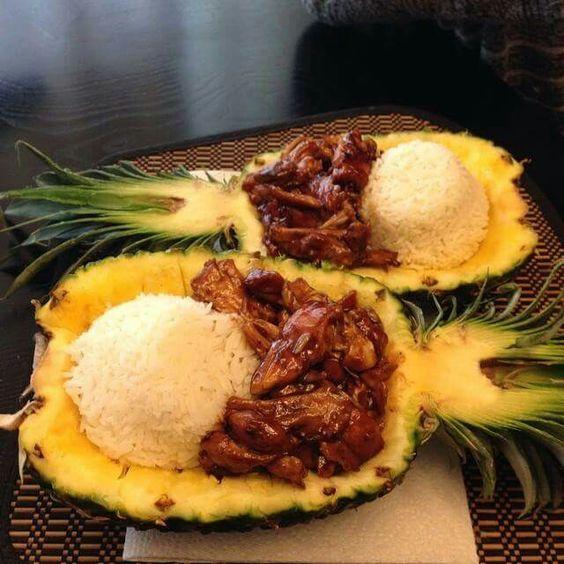 Chicken Teriyaki In A Pineapple Bowl by Thegraciouswife