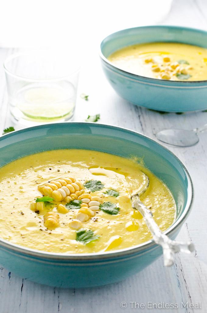 Sweet Corn Gazpacho by: Theendlessmeal