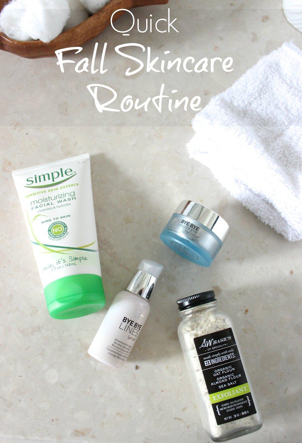 quick fall skincare routine
