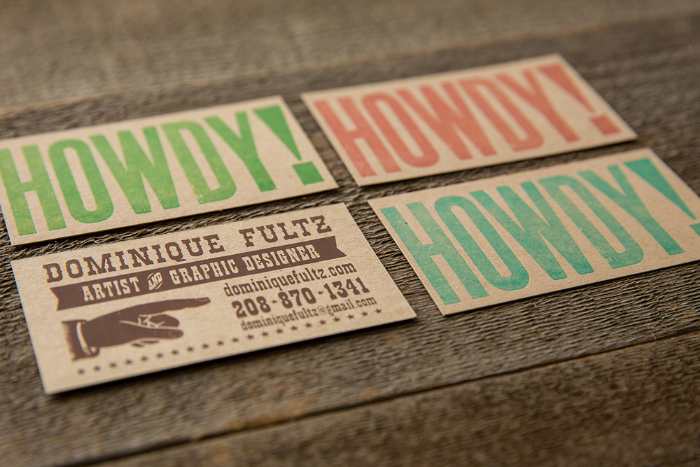 business cards | vintage wood type