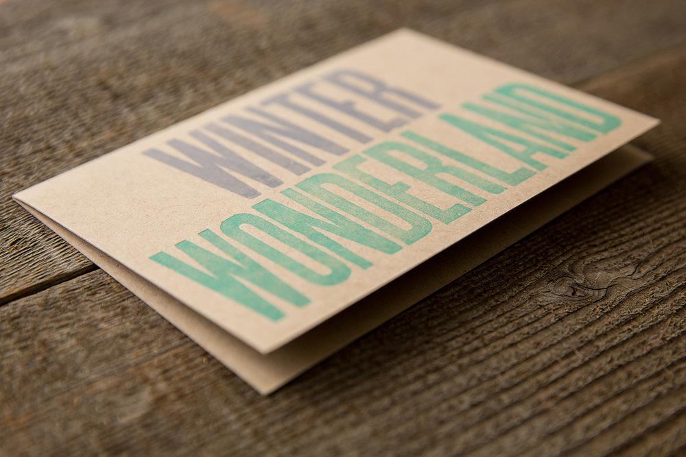 card | vintage wood type