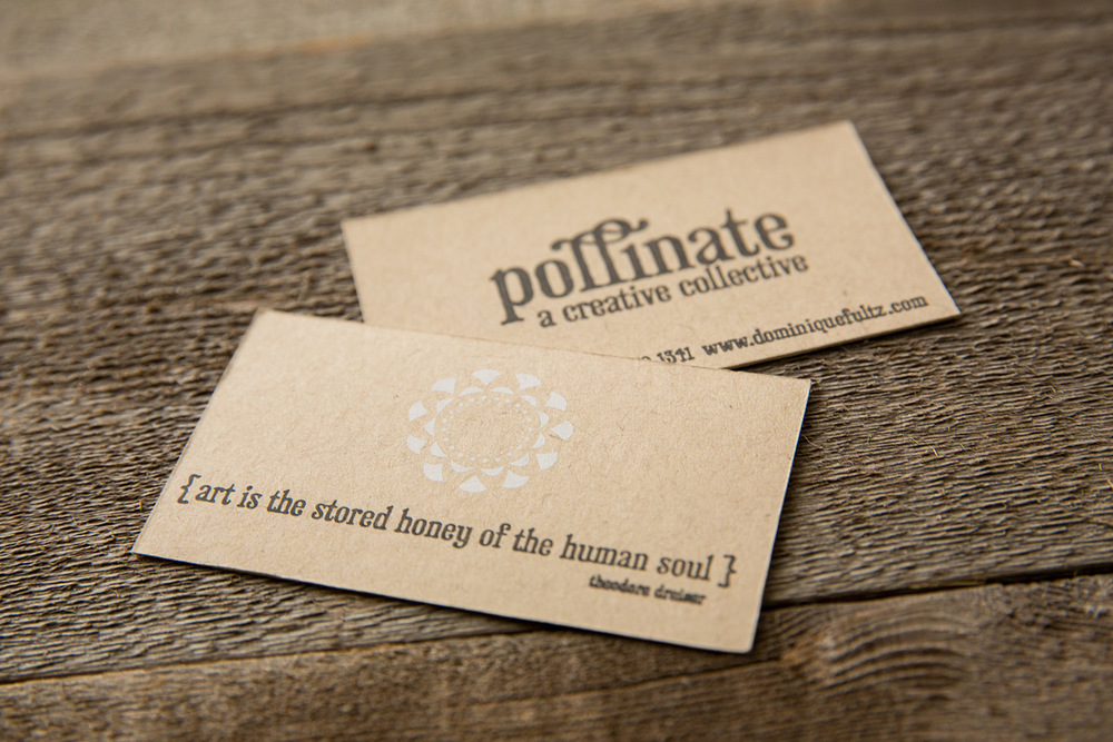 Pollinate business card | letterpress | screen print